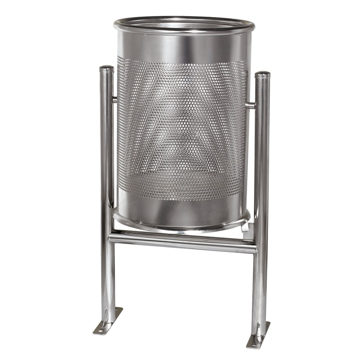 Circular stainless Barcelona bin for street C-23X