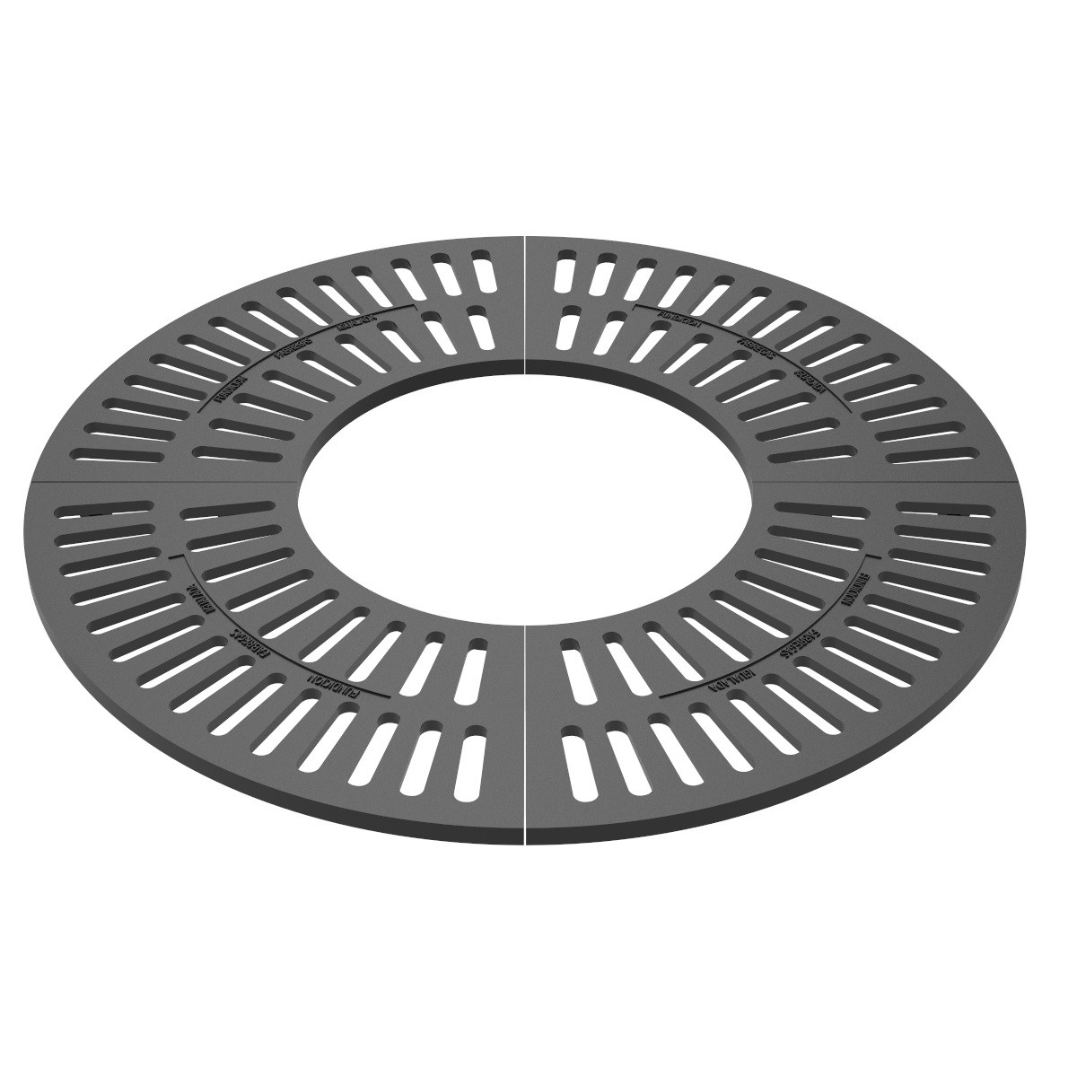 Round tree grill 2 pieces - C-47B