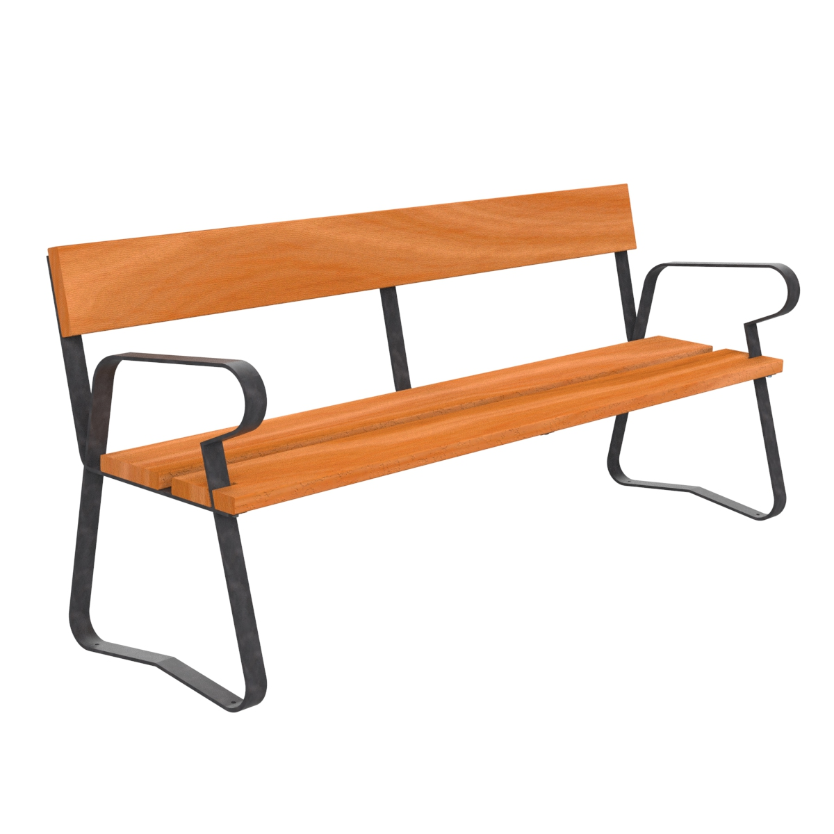 Madrid Wood Bench urban furniture to sit down in parks and gardens