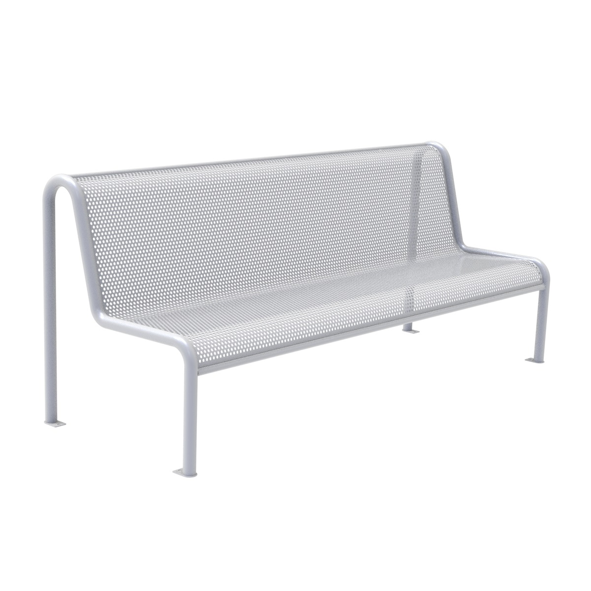Perforated plate Bench forniture urban element parks and gardens