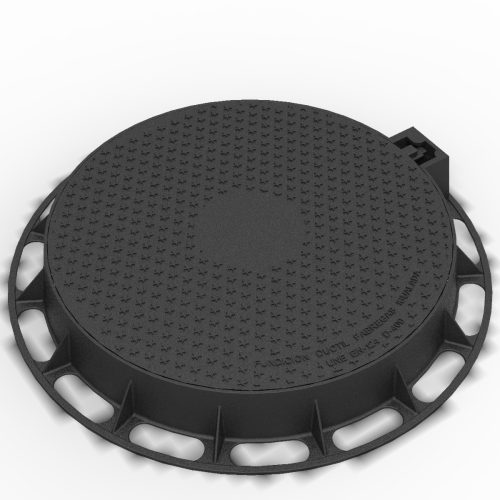 Manhole Cover and ring of locking registry in ductile casting D-1 DIAM640