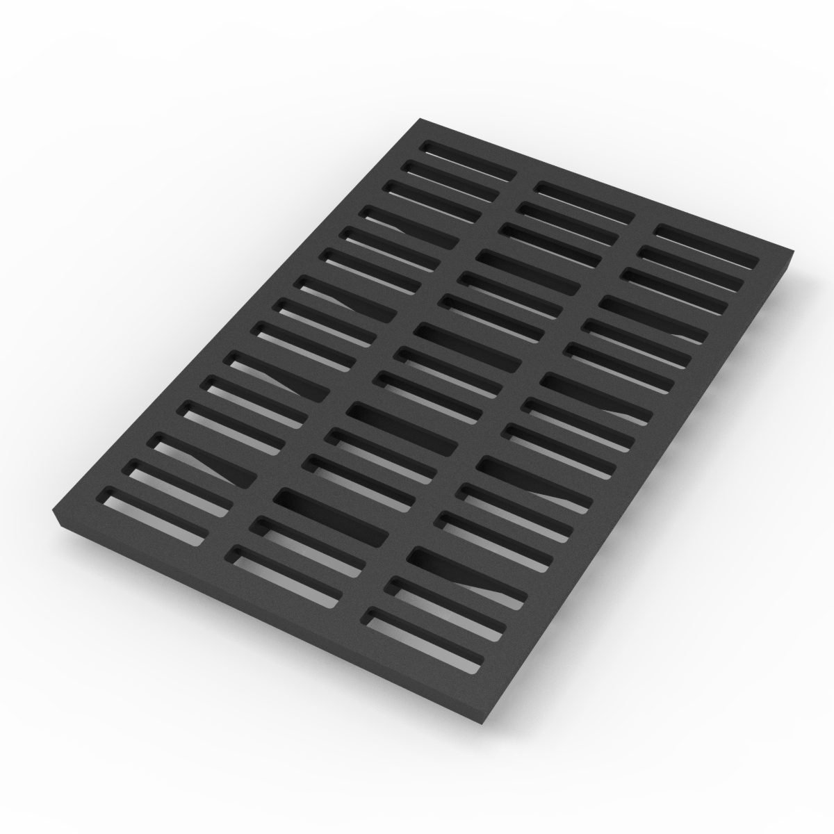 Water cut grate in casting D-10