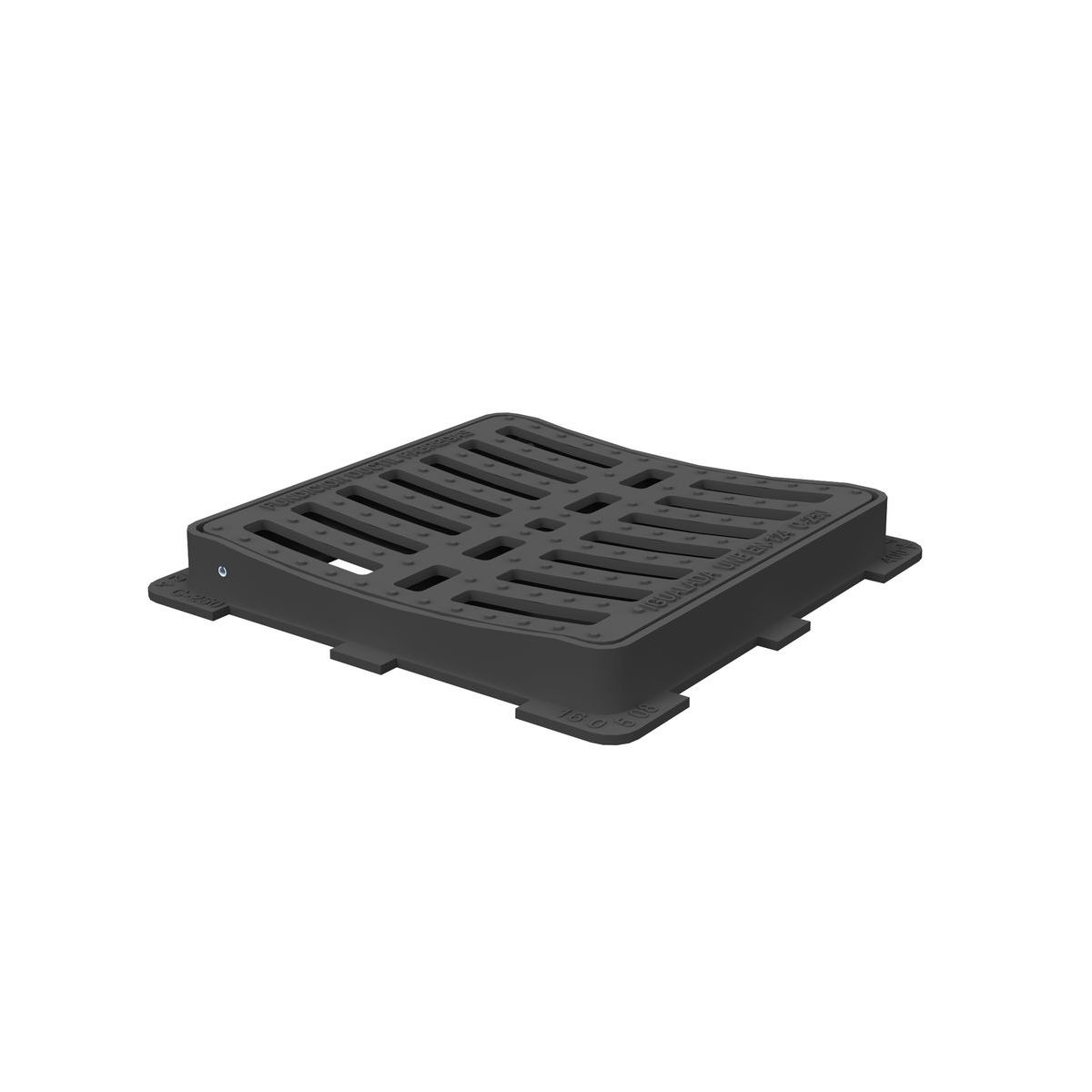 Square Concave folding scupper grate and frame in casting D-12C-C