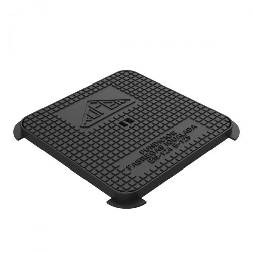 Hydraulic square manhole cover and frame ductile casting D-14 30x30 B-125