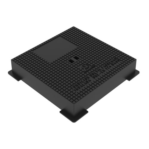 Hydraulic square manhole cover and frame ductile casting D-15 40x40 D-400