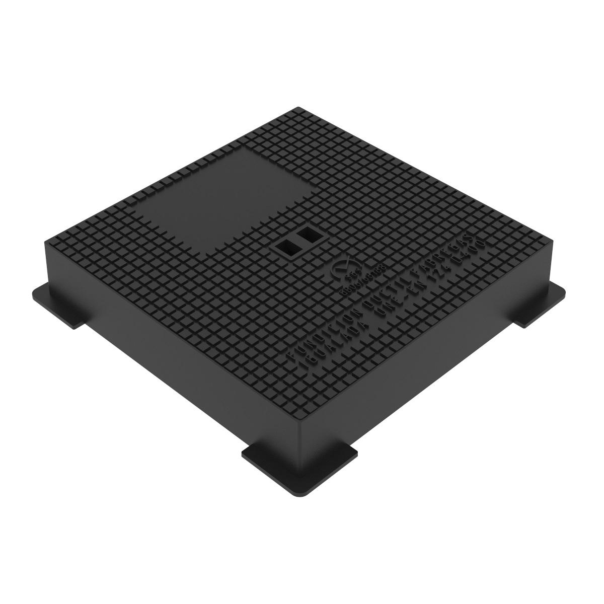 Tapa y marco cuadrado hidraulicas fundicion ductil D-15 40X40 D400