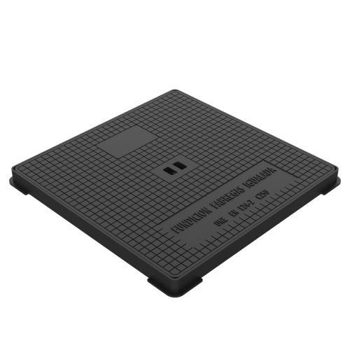 """Hydraulic square manhole cover and frame ductile casting D-17 60x60 C-250 """"D"""""""