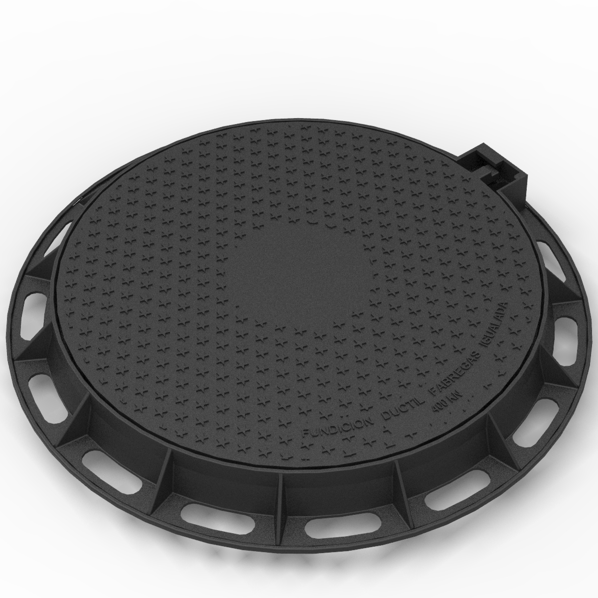 Manhole Cover and ring of locking registry in ductile casting D-1P DIAM580
