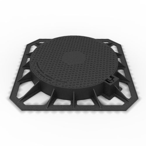 Manhole Cover and frame of blockade registry in ductile casting D-2 D400