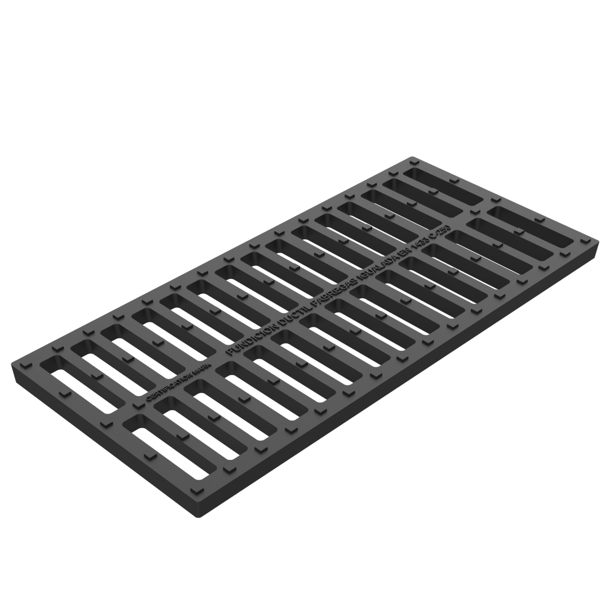 Water cut grate in casting D-8