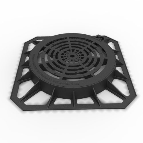 Circular Cover and grate of registry in ductile casting D-81