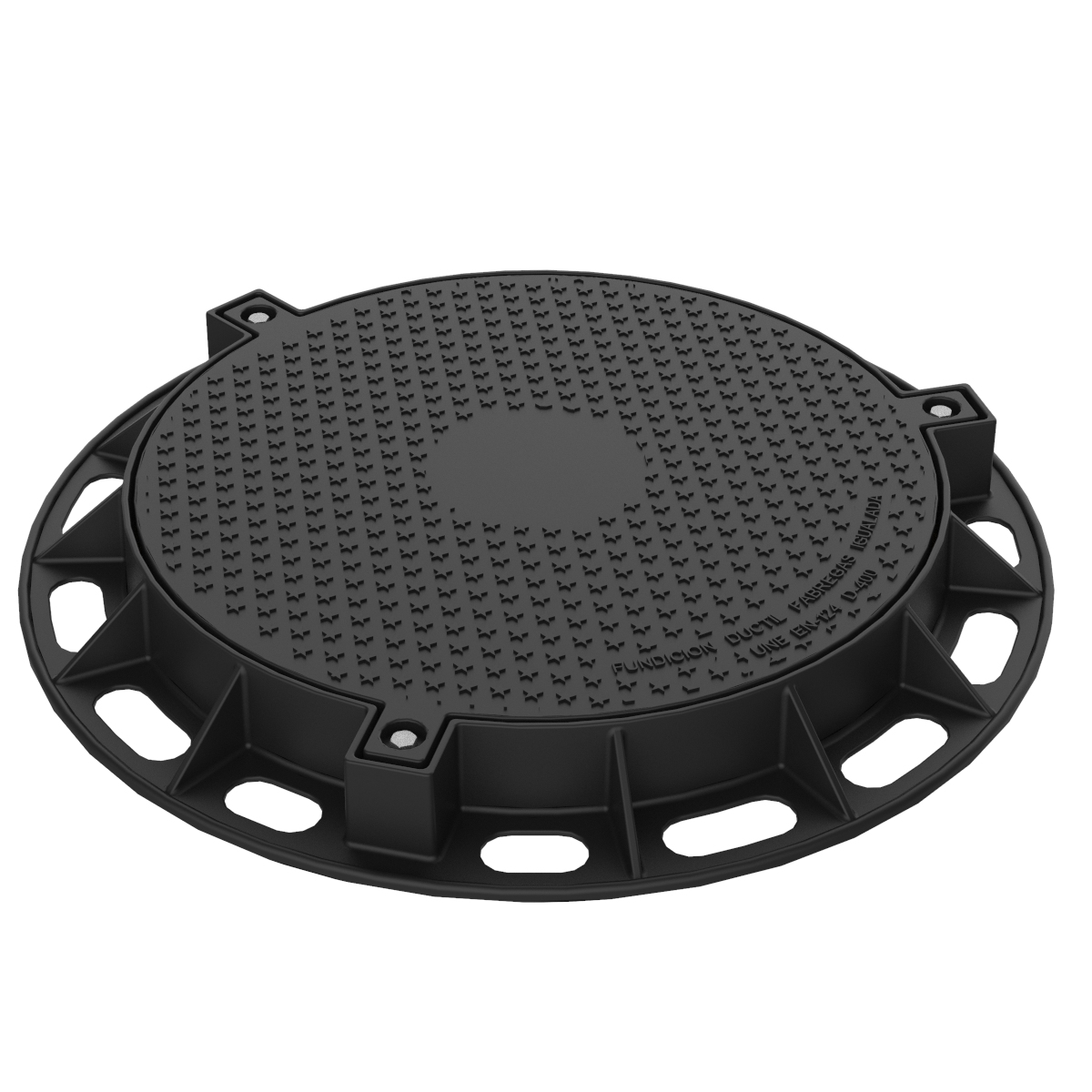 Manhole Cover and ring tight circular in ductile casting D-90