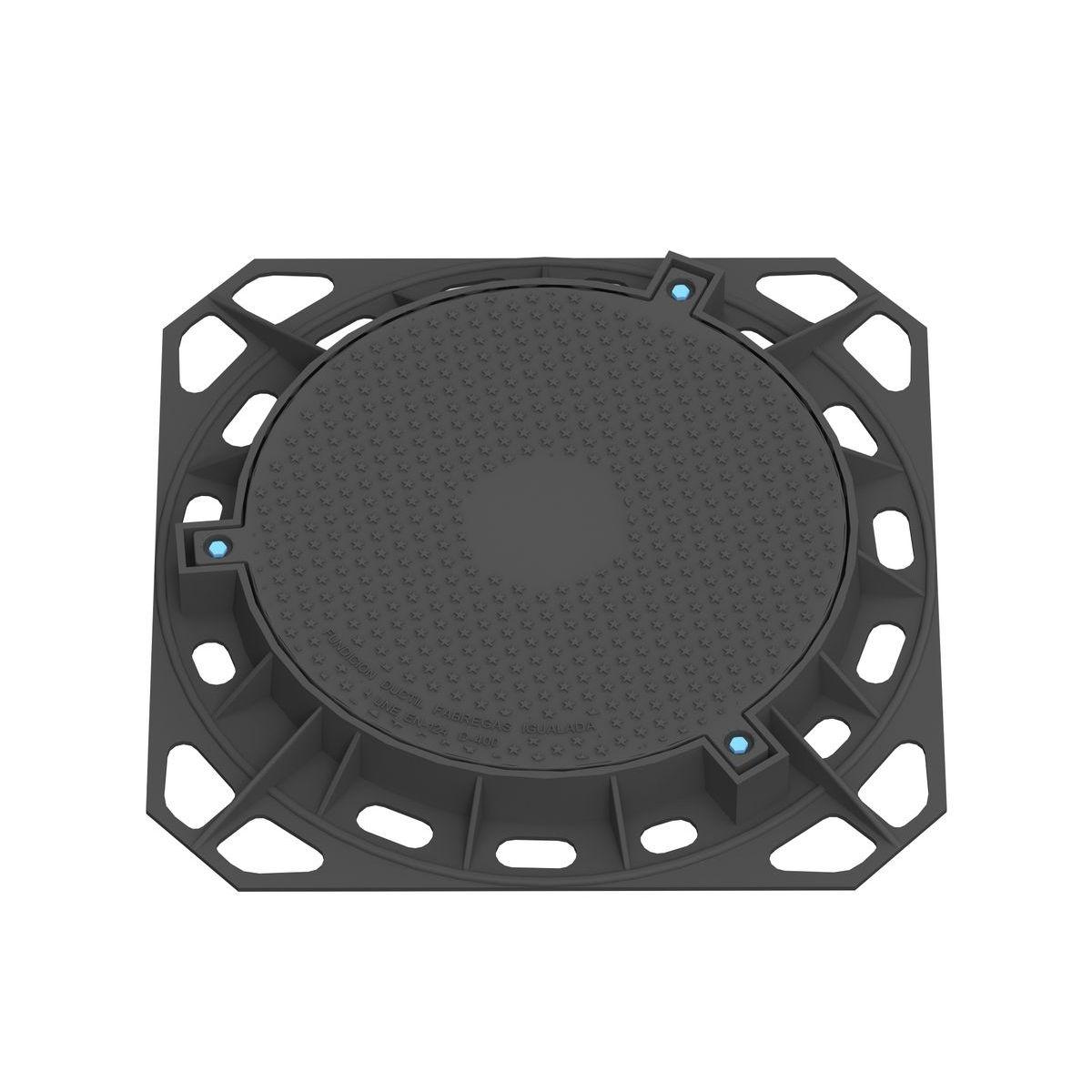 Tapa y marco estancas circular en fundicion ductil D-91