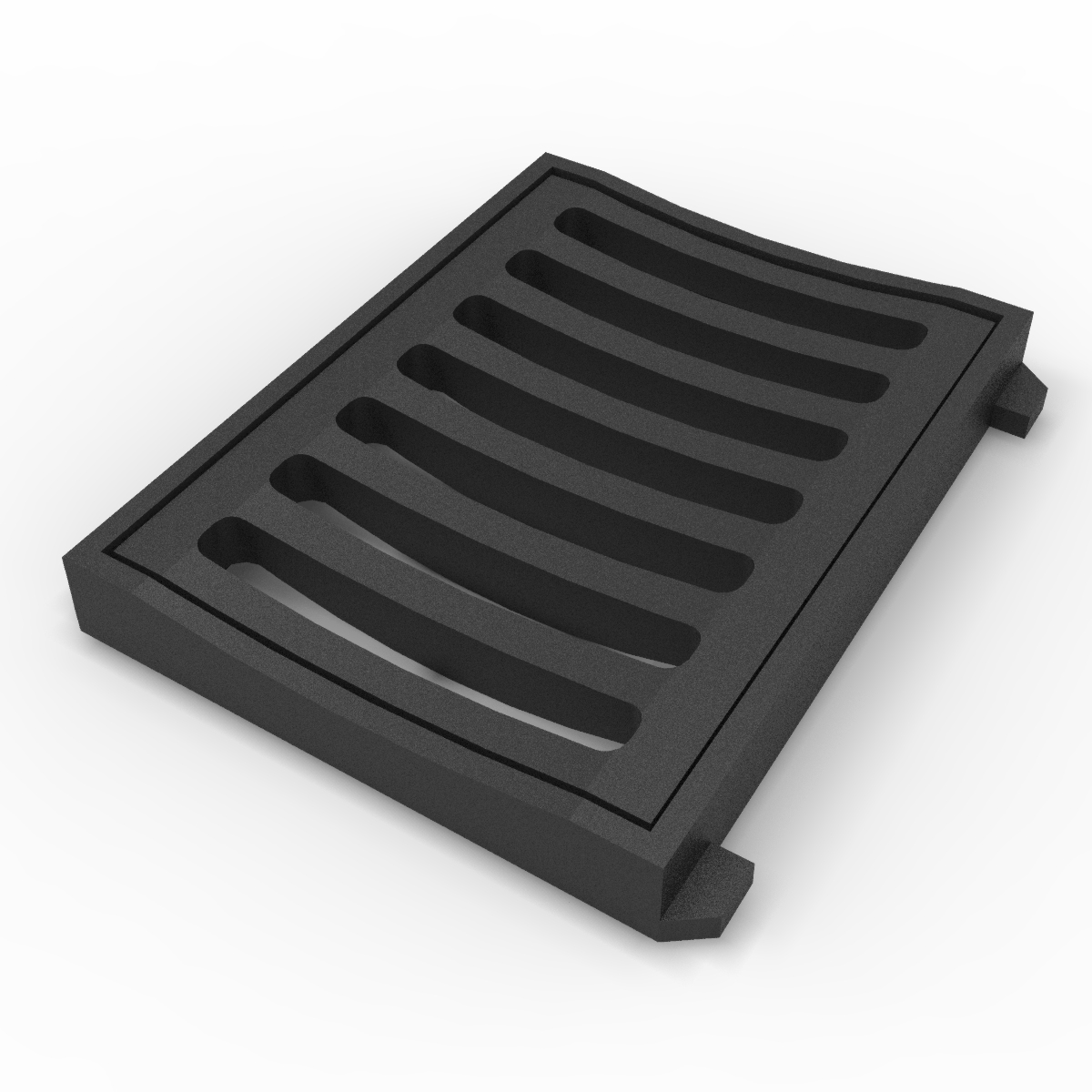 Concave scupper grate and frame grey casting E-LEON