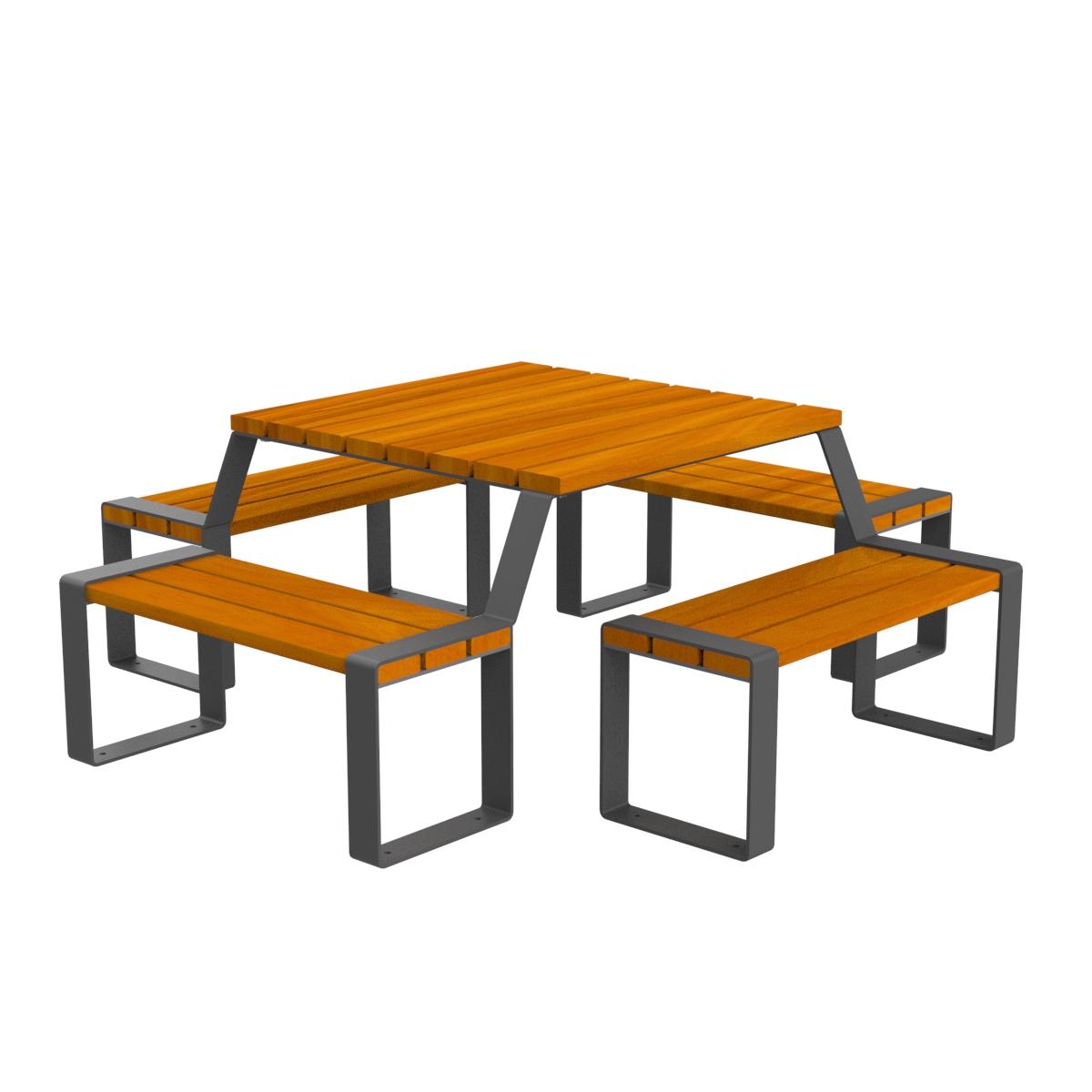 Mesa picnic marina madera mobiliario urbano parques y jardines for Mobiliario urbano tipos