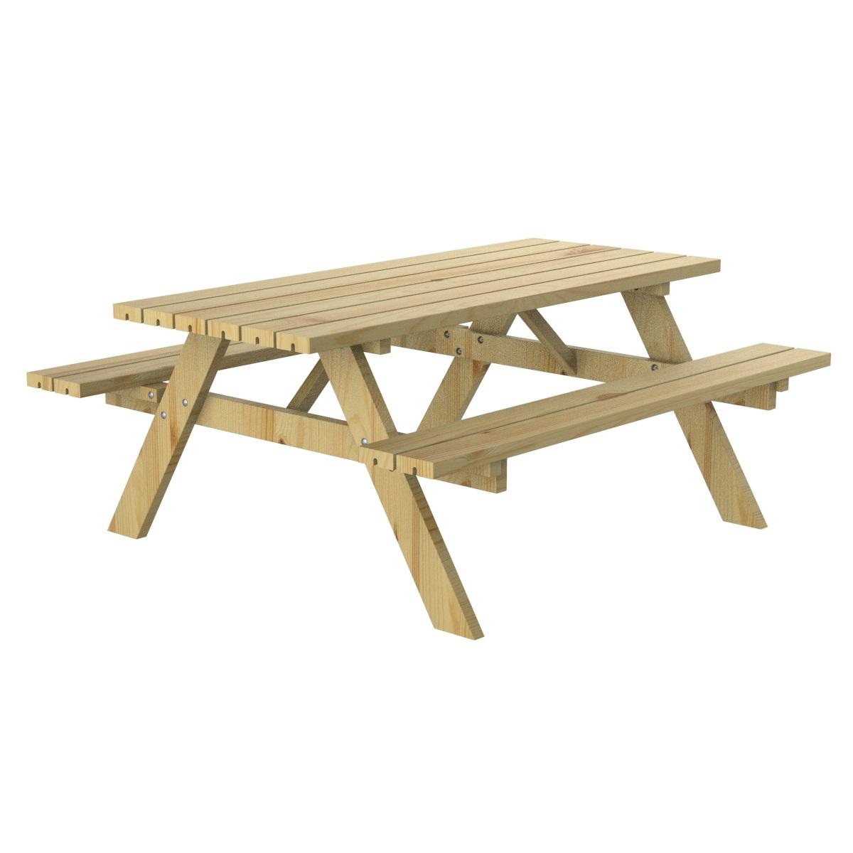 Mesa picnic madera pino mobiliario urbano parques y jardines for Mobiliario de jardin de madera