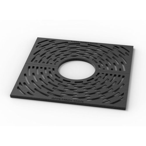 Square tree grill in ductile casting Radial I-600