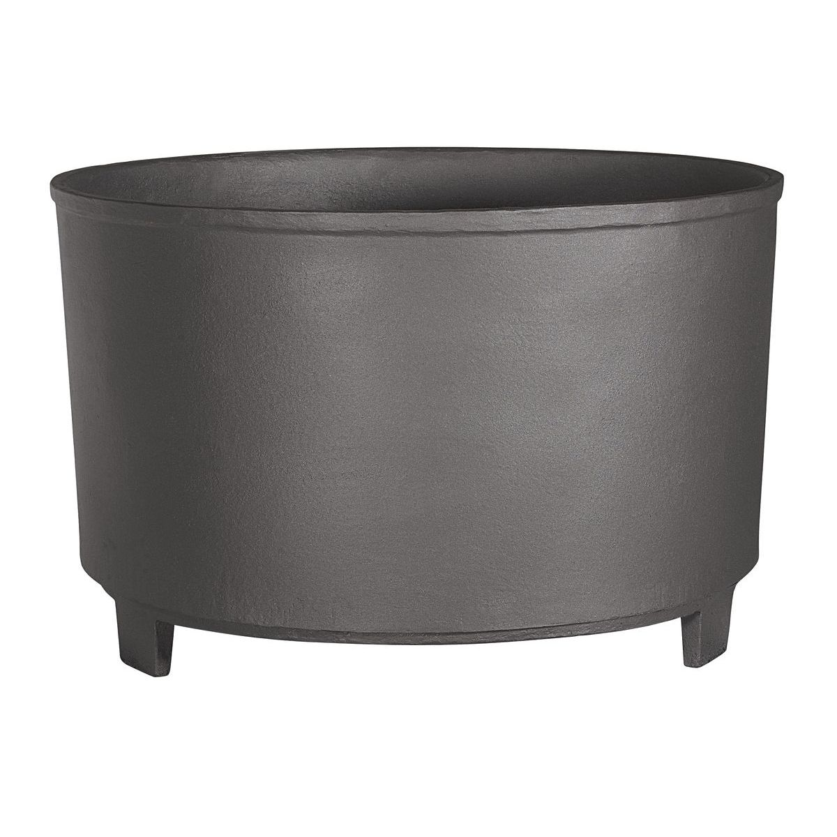 Big circular or sferic flower box in iron claudia J-33