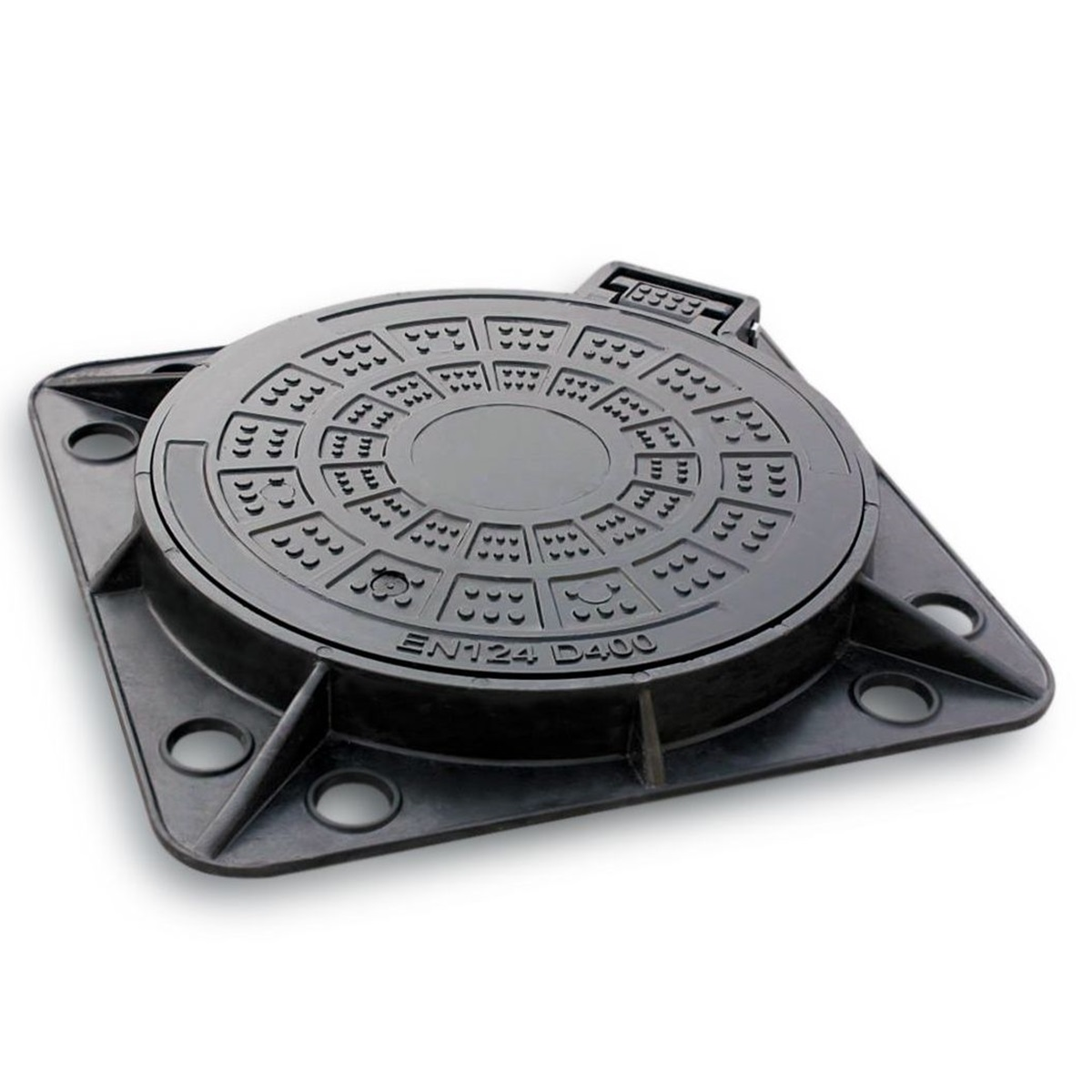 Manhole Cover and frame in Composite diam 660 D-400 KP-R-2