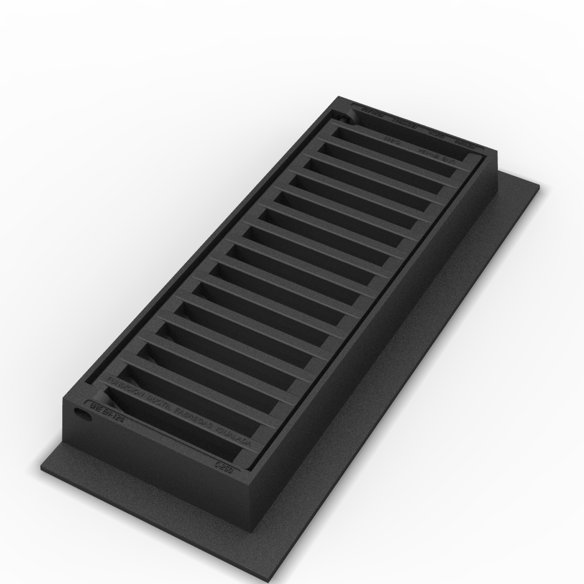 Scupper grate and frame, Meridiana straight M-3-R