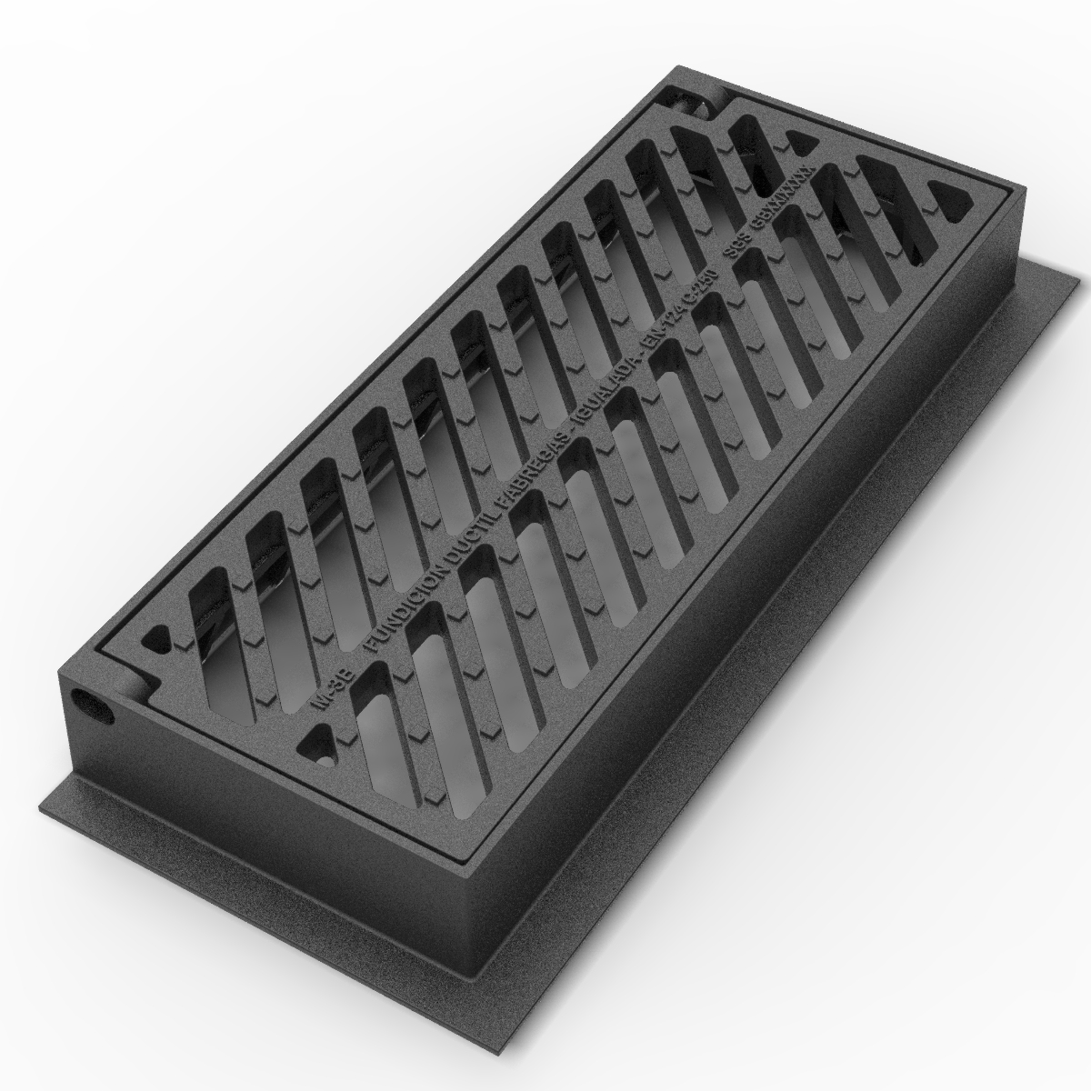Barcelona Folding Scupper grate and Frame in ductile casting M-3B