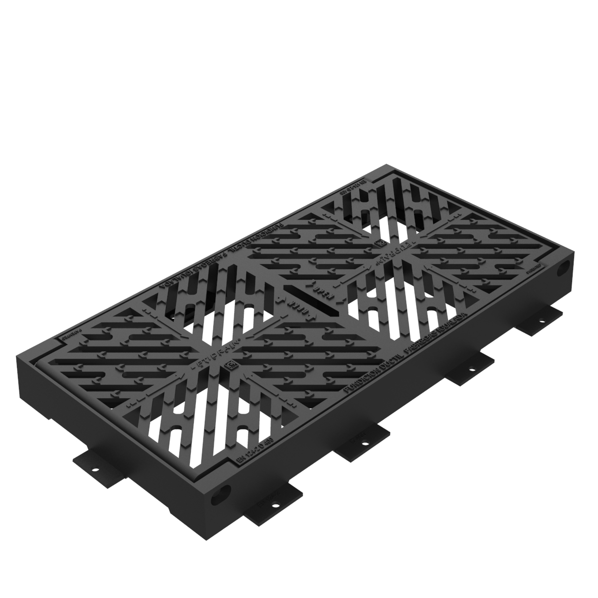 Optidrain folding scupper grate and frame in casting M-5