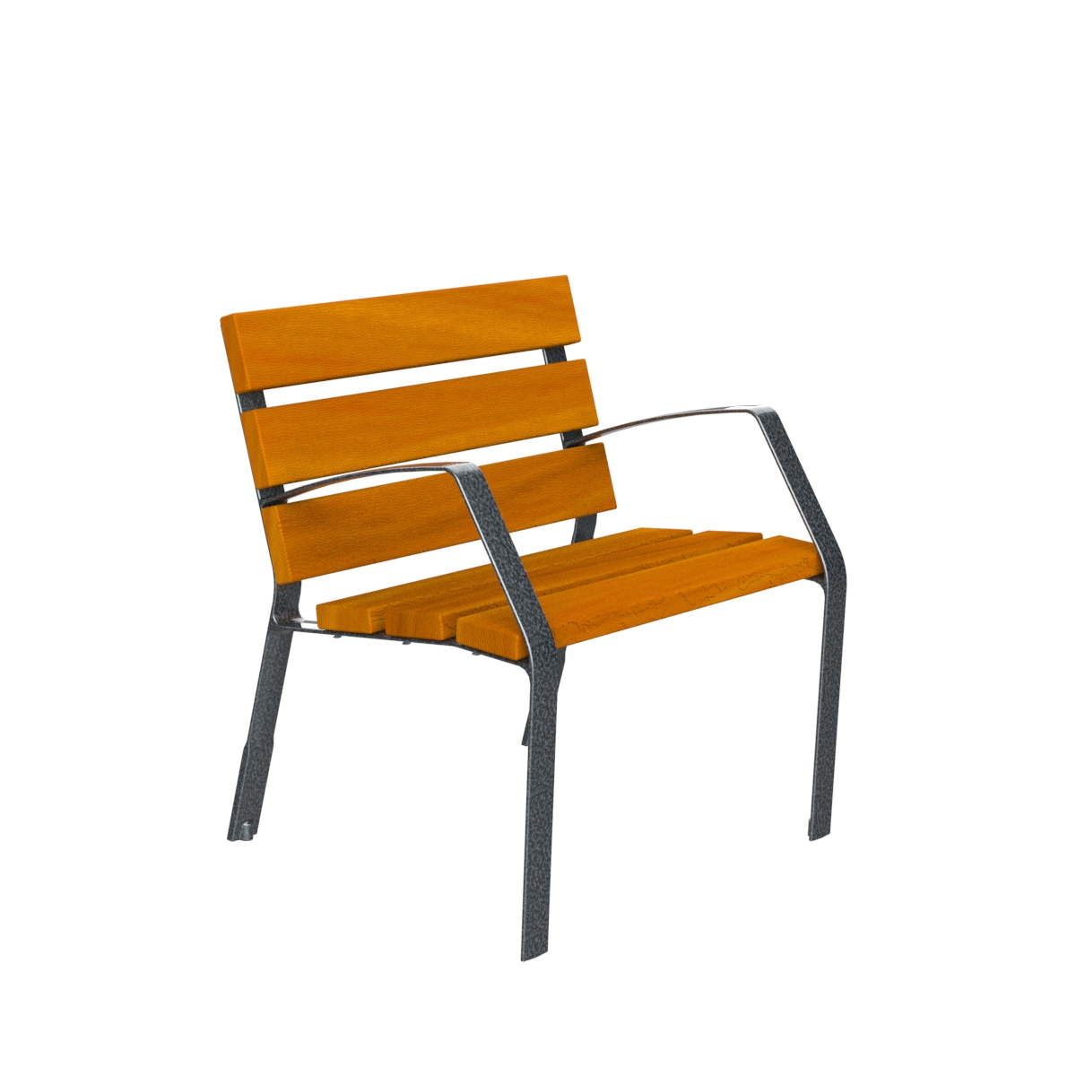Chair Modo08 tropical wood and cast iron leg