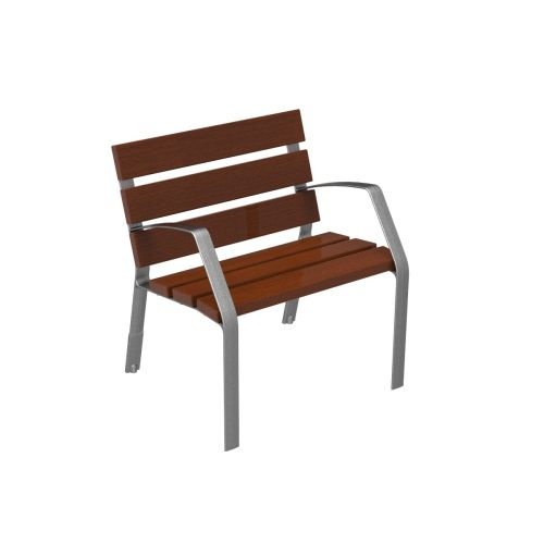 MODO08 chair in cast iron and tropical wood MODO08-0700