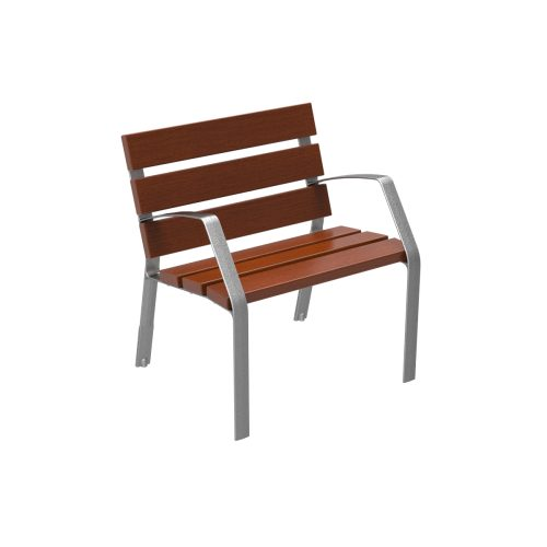 Chair MODO08 in cast iron and technical wood MODO08-0700-MT
