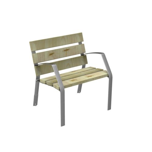 Chair MODO08 in cast iron and certified conifer wood MODO08-0700-PC