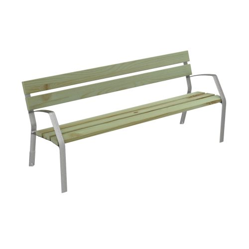Bench MODO08 in cast iron and certified conifer wood MODO08-1800-5-PC