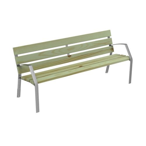 Bench MODO08 in cast iron and certified conifer wood MODO08-1800-PC