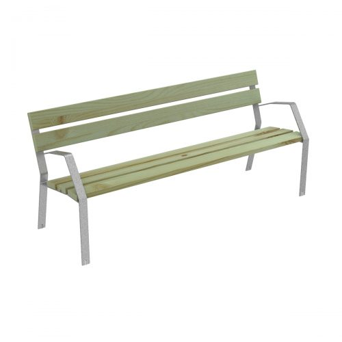 Bench MODO08 in steel and coniferous wood certified MODO08-1800-A-PC