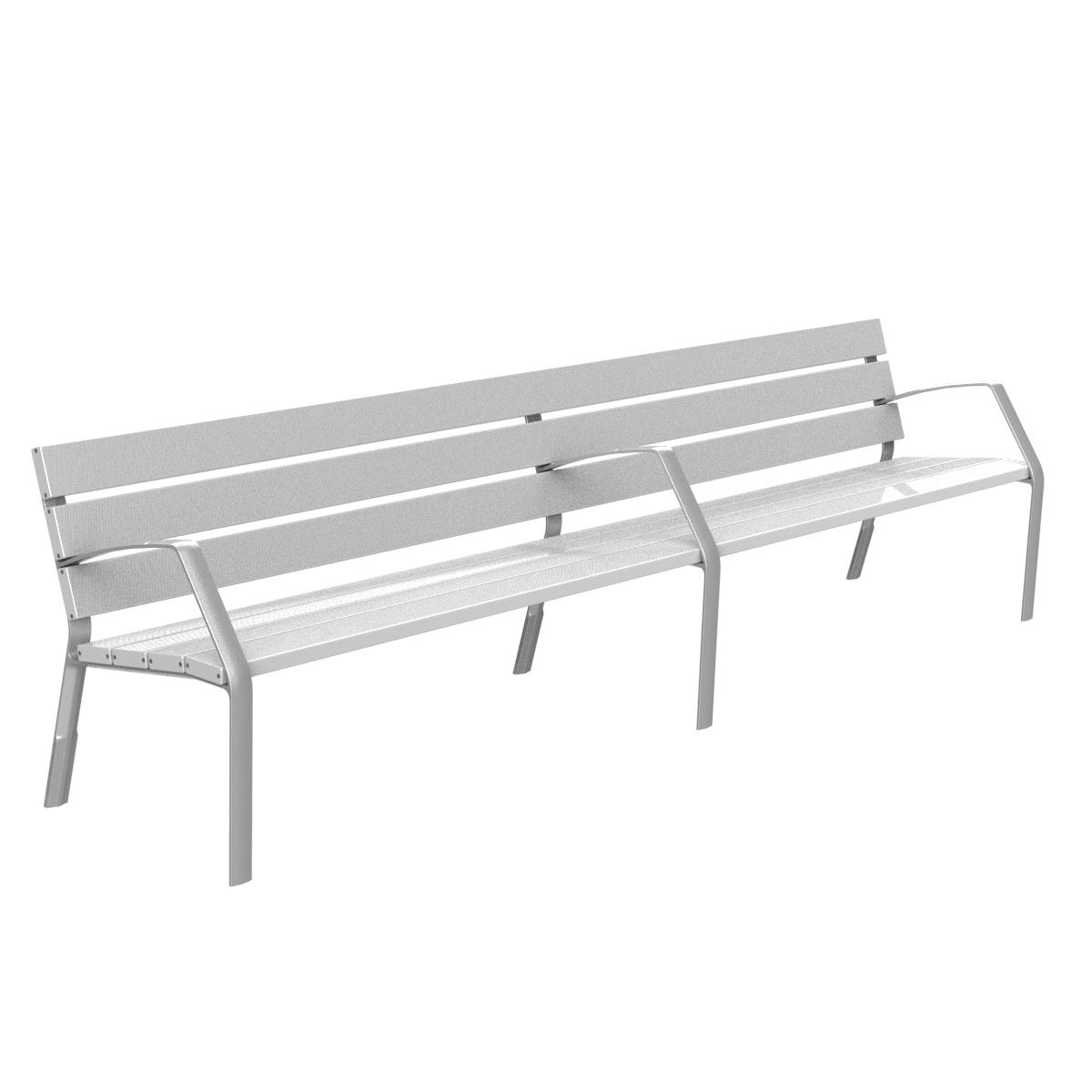 Banco de aluminio y patas de aluminio adonizado