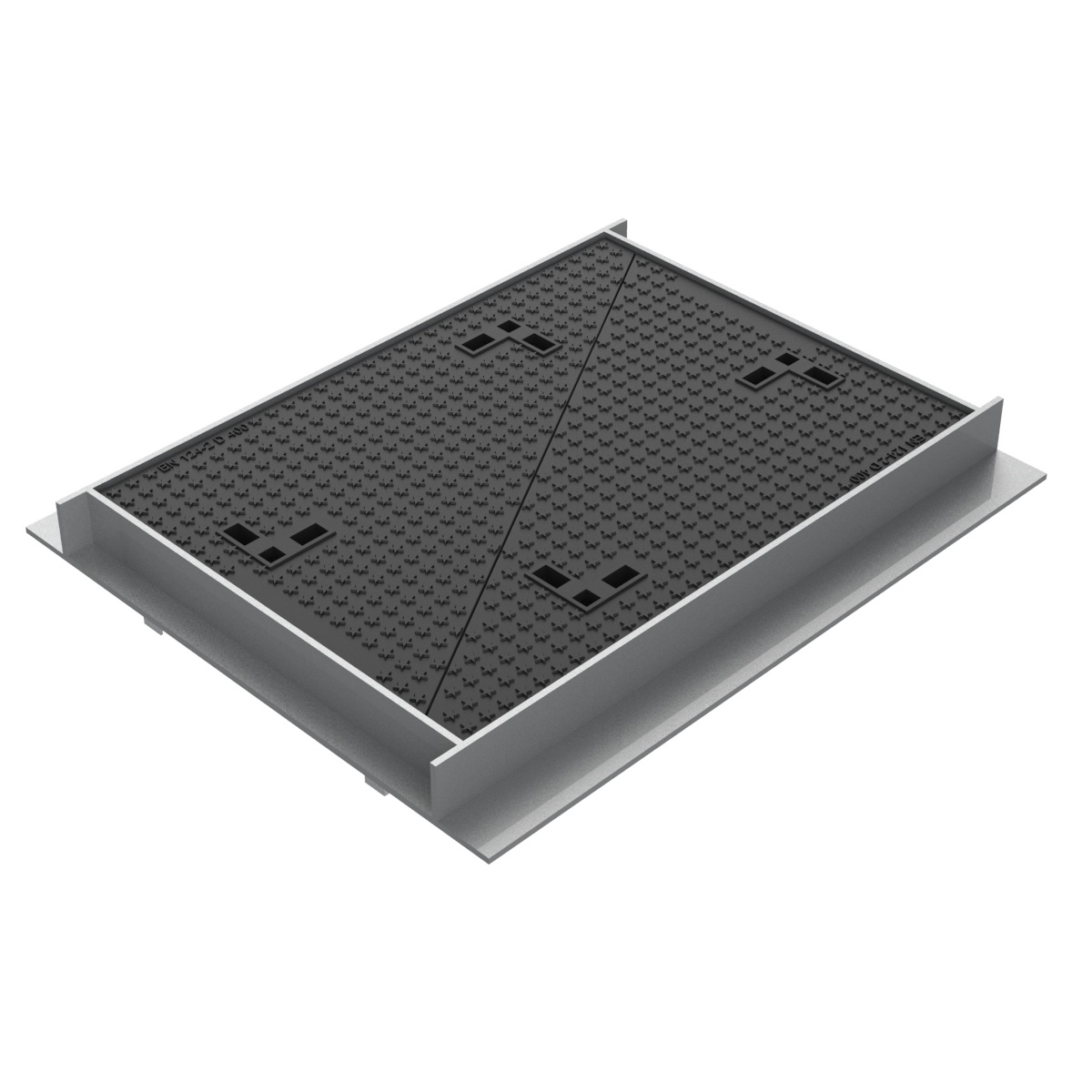 Telecommunications double Manhole cover of casting NR-1-D400
