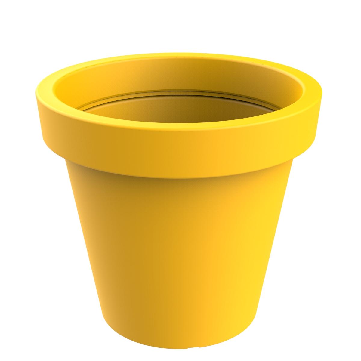 Jardinière modèle Alvium jaune RAL 1021 P-1017-1200-AMA