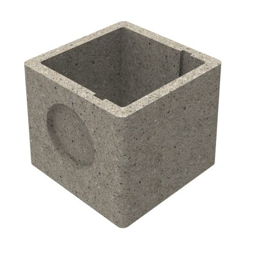 Premanufactured precast chamber without wall-plate 400x400