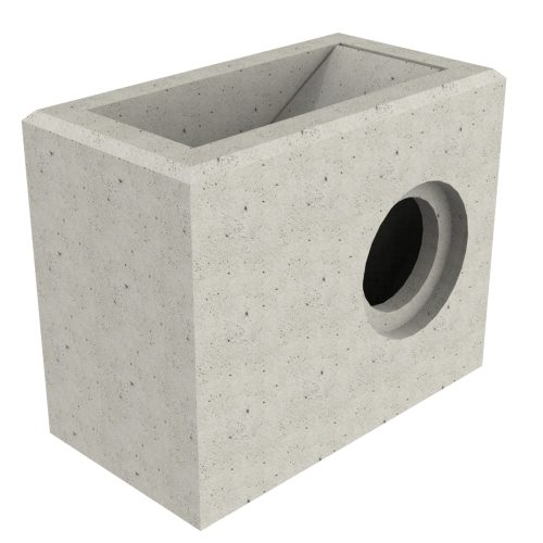 Premanufactured scupper with wall-plate 700x300