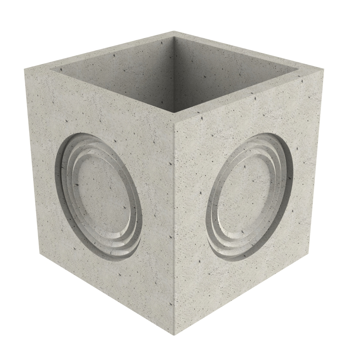Premanufactured precast box of concrete without wall-plate 490x490x490