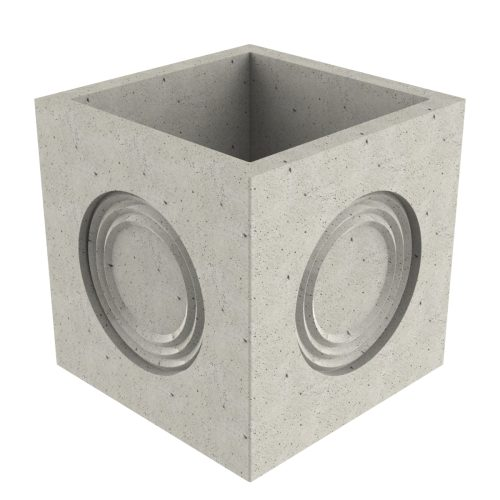 Premanufactured precast box of concrete without wall-plate 496x496x595