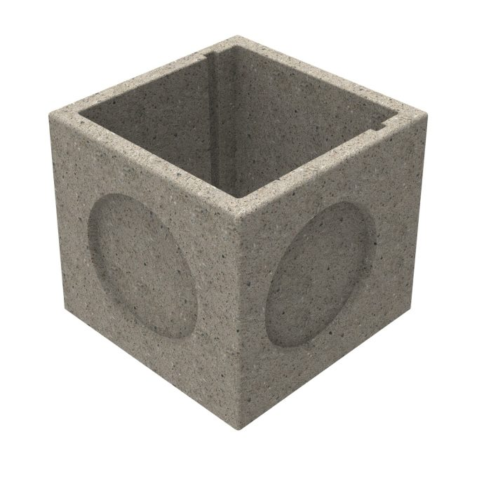Premanufactured precast box of concrete without wall-plate 600x600