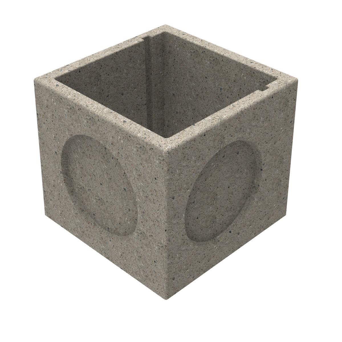 Arqueta prefabricada de hormigon sin solera 600x600