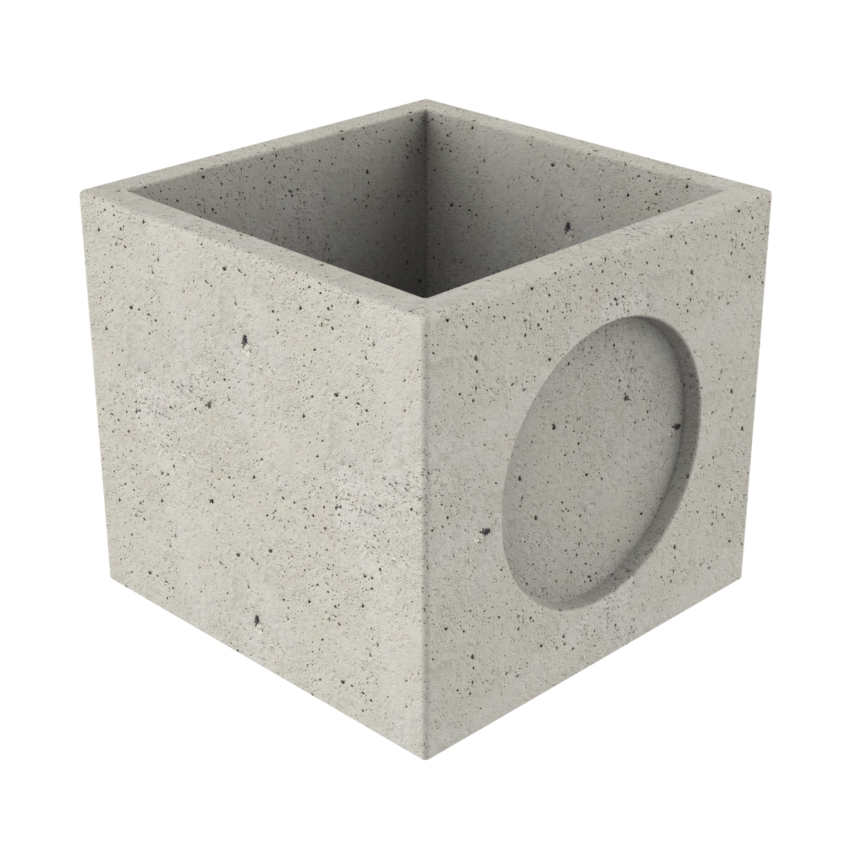 Premanufactured precast chamber of concrete with wall-plate 80x80x77