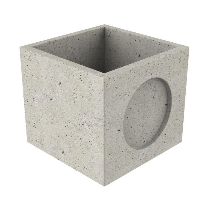 Premanufactured precast chamber of concrete with wall-plate 80x80x73