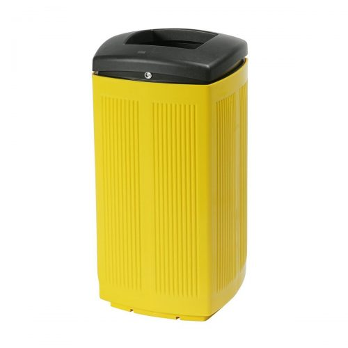 Toscana Polypropylene Yellow Bin for street P-200-AMA