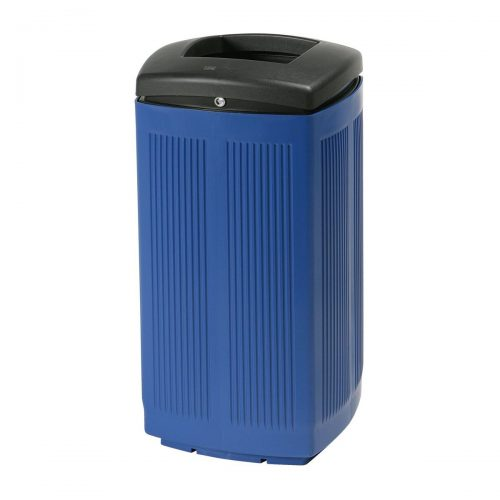 Toscana Polypropylene Blue Bin for street P-200-AZU