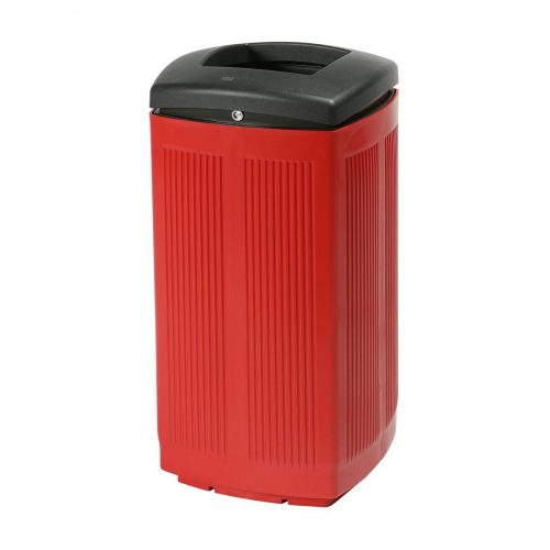 Toscana Polypropylene Red Bin for street P-200-ROJ