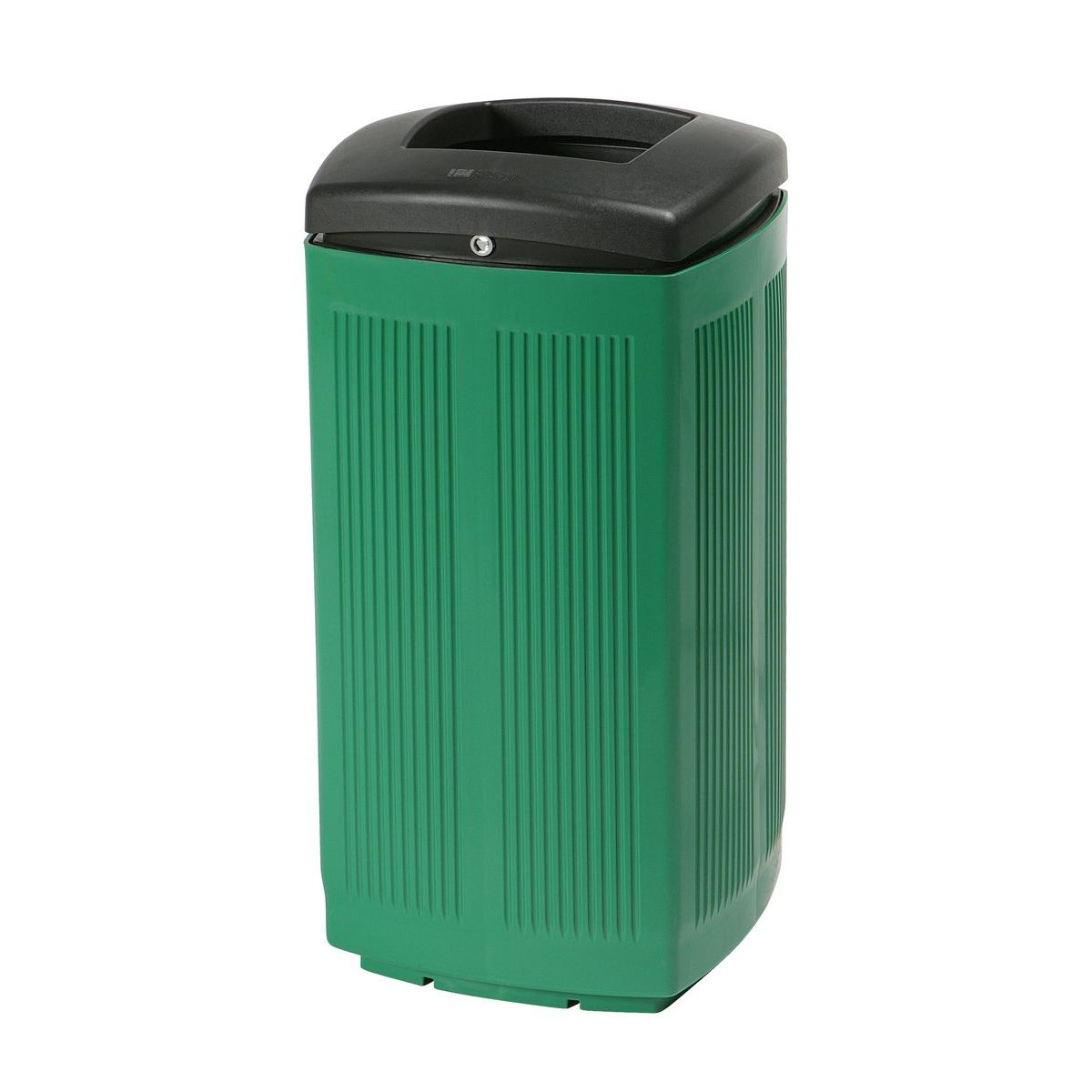 Toscana Polypropylene Green Bin for street P-200-VER