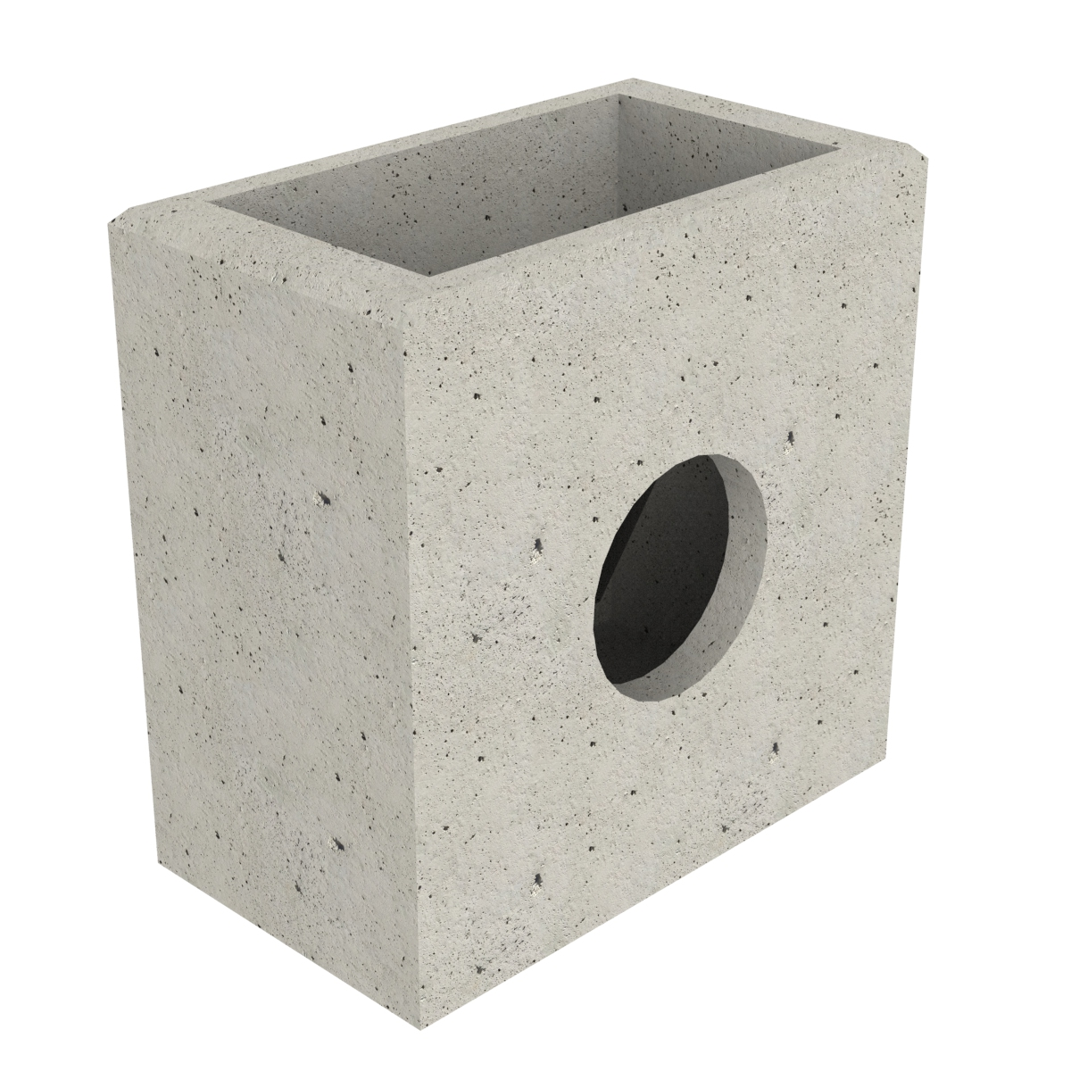 Concrete scupper with wall-plate 50x30x75