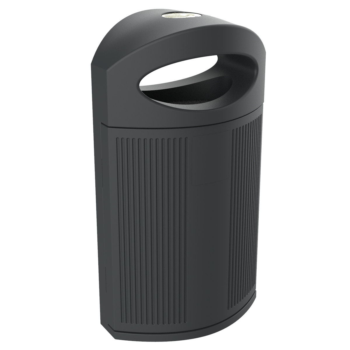 Ibiza Polyethylene Grey color RAL 7021 Bin for street P-23I-ANONIMA